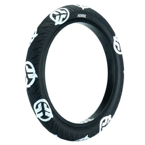 Federal Command LP Tyre - Black With White Logos 2.40""